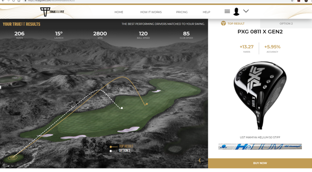 Have you tried @truegolffit yet?  If not you should, as it recommends a driver I wouldn't have thought to try--didn't' think I was good enough for it! Check out the yardage I'll gain. @pxg #Driver #GetFit #MoreDistance #moreaccuracy