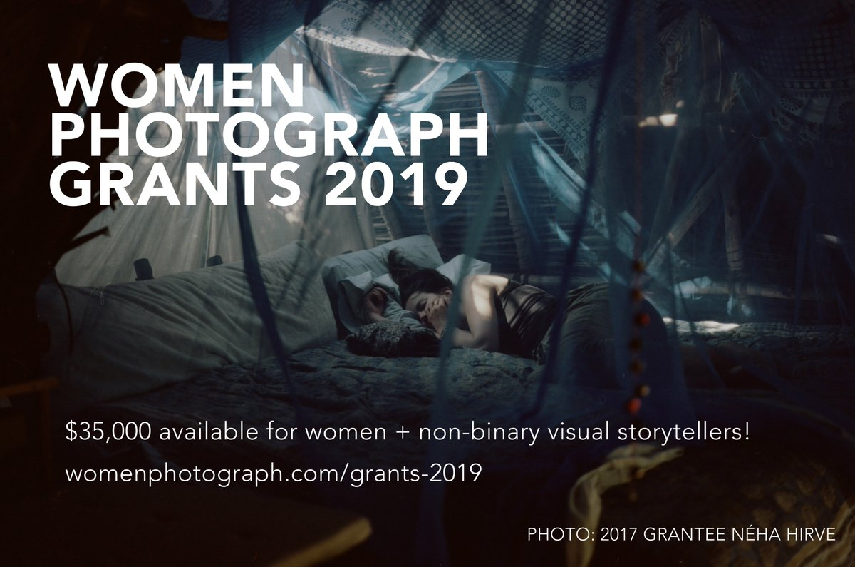 We're thrilled to announce our 2019 grants cycle, with $35,000 in project funding available for women & non-binary photographers! Applications open on April 1, and the final deadline is May 15. Get those project statements ready! http://womenphotograph.com/grants-2019