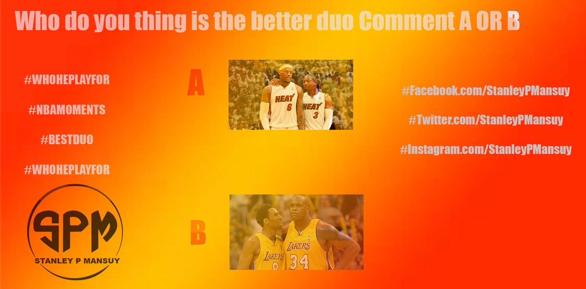 NBA TRVIA WILL FEATURE MULTIPLE QUESTIONS SO TO GET IN THE SPIRIT HERE'S A LITTLE OPINON BASED QUESTION YOU GUYS CAN ANSWER  #BESTDUO #NBAMOMENTS #WIN #WHOHEPLAYFOR #BRINGITON