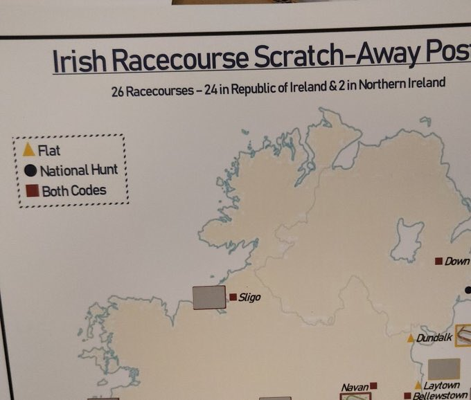 Map Of Ireland Racecourses.Scratch Reveal Scratchnreveal Twitter