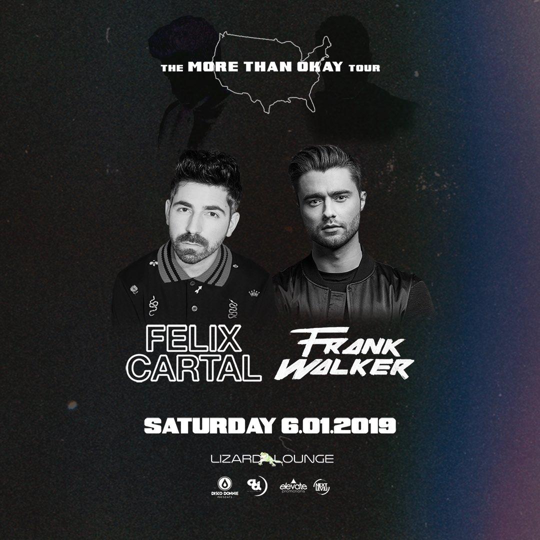 ANNOUNCING The More Than Okay Tour @felixcartal & @DJFrankWalker 🎫: frankxfelix0601.eventbrite.com