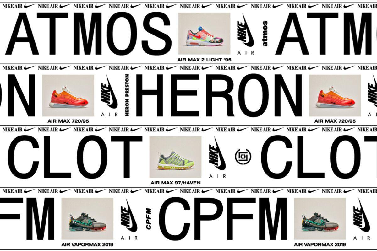 60bd5cb0714 atmos clot heron preston and cactus plant flea market x nike air max  collaborations