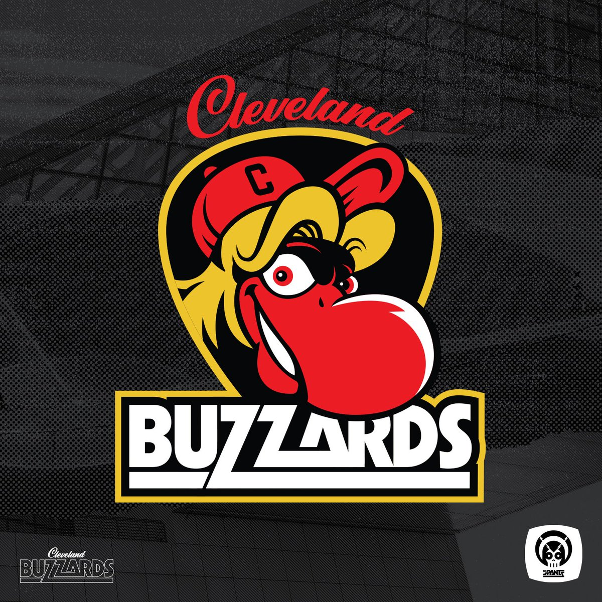 Happy early #openingday @Indians fans. I got bored and re-designed our baseball team. http://okPANTS.com/buzzards