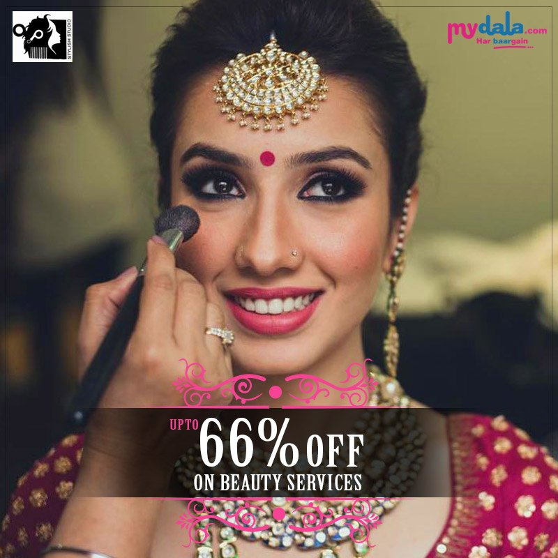 Beauty is power, and makeup is something that really enhances that. Special Offer with Stylish Studio Upto 66% OFF On Beauty services. #beauty #specialoffer #makeup #mydaladeals Click Here To Book Now: https://t.co/4jcOCd5AGM https://t.co/xxe71zgjtC