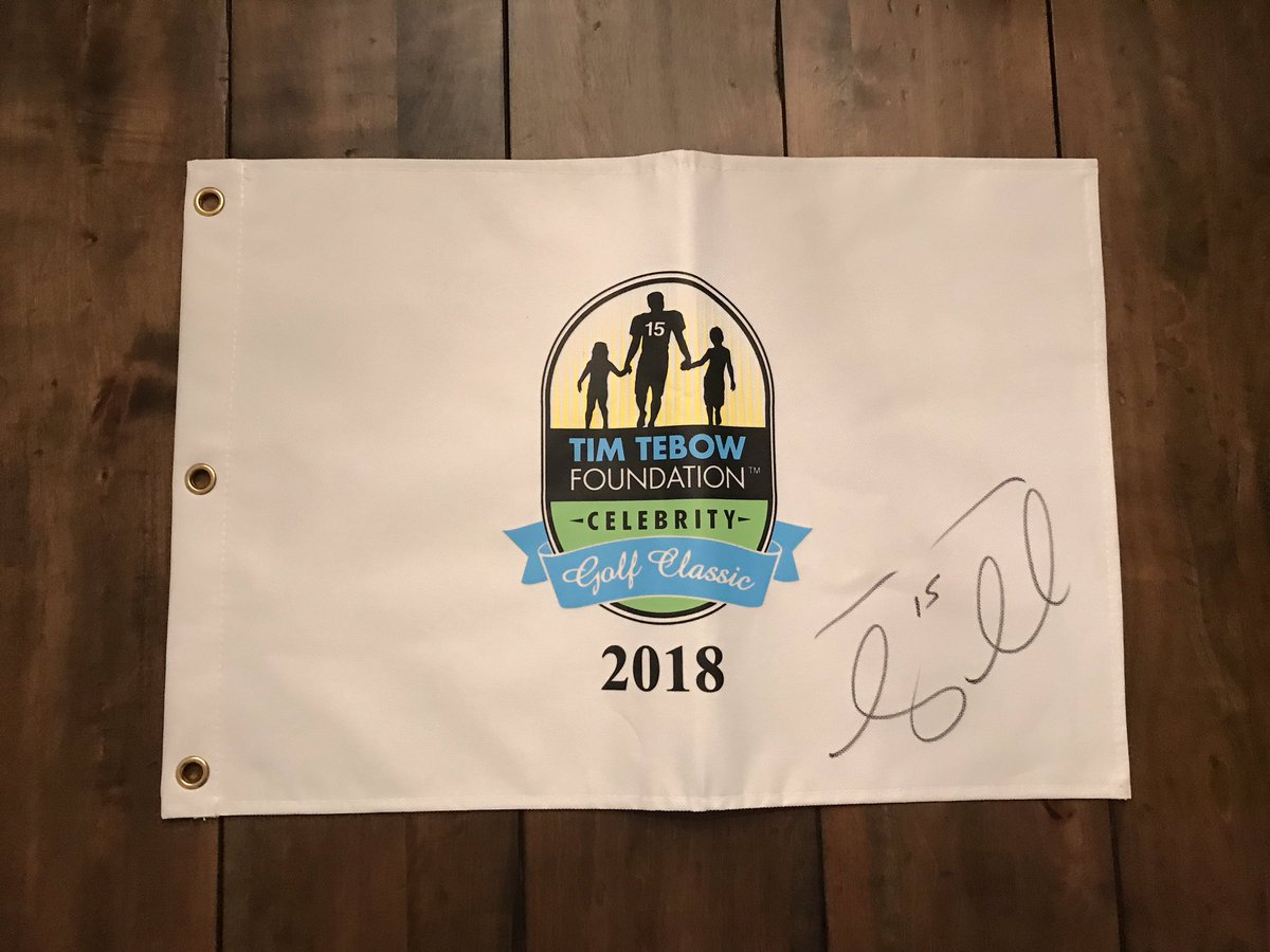 Want to win this pin flag autographed by @TimTebow simply follow @TD_Autographs & @tebowfoundation to be entered to win! And don't forget the 2019 golf tournament is THIS Saturday @TPCSawgrass BUY TICKETS HERE: https://www.ticketmaster.com/Tim-Tebow-Foundation-Celebrity-Golf-Classic-tickets/artist/1701556 …