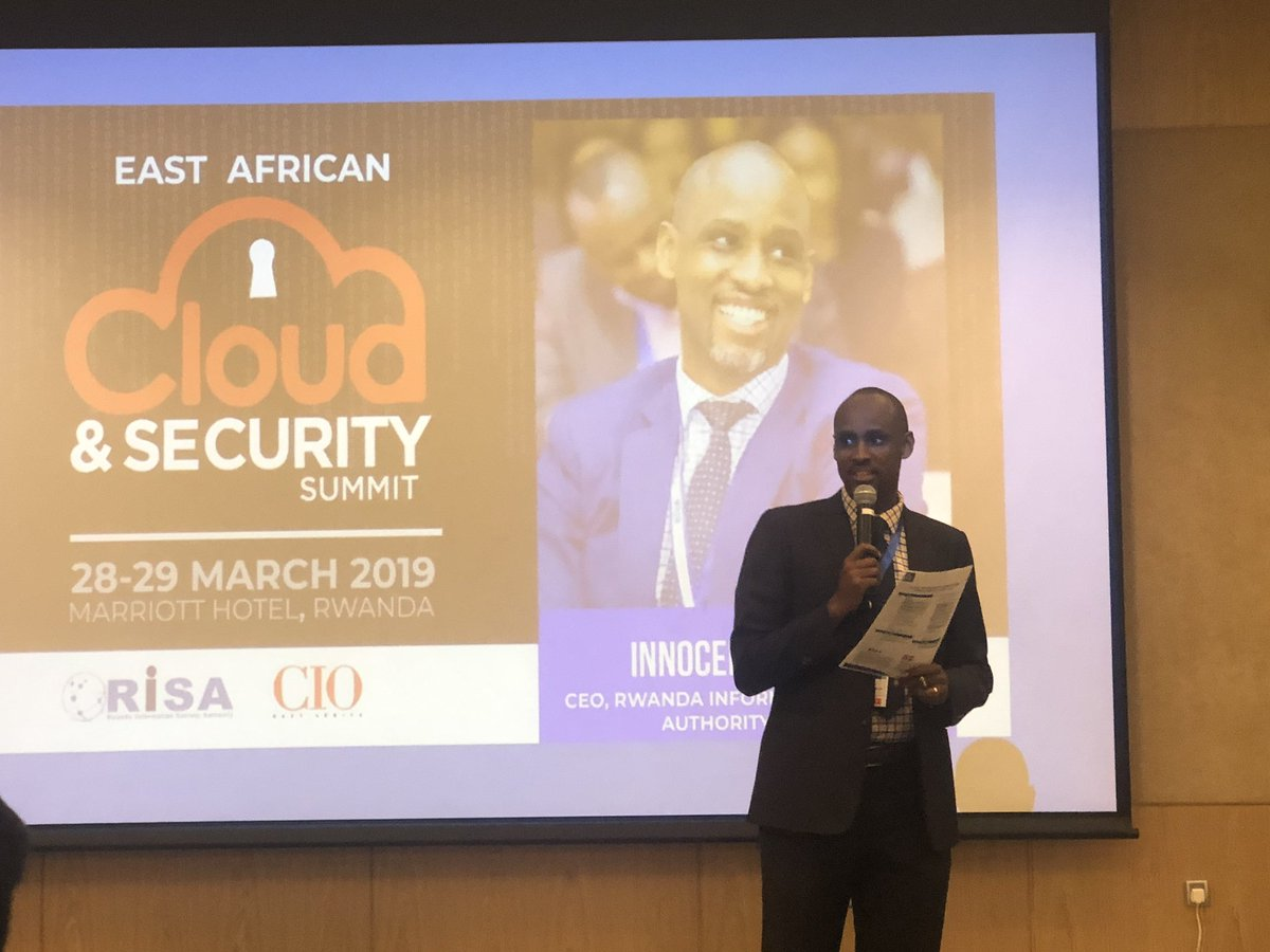 Attending the Cloud & Security Summit @KigaliMarriott Welcome Remarks by CEO of RISA @IBMuhizi @RISARWANDA @RwandaICT @CIOEastAfrica @RealSmartAfrica  @AOS_RW #CIOEA #CIOCSS