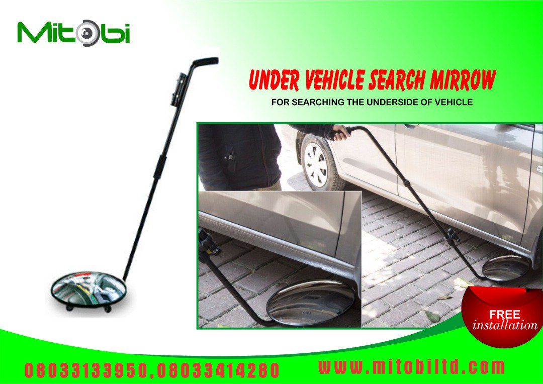 This can be used by #Security officers at the Estate gate, Church entrance, Office building, School gate and many more. Tell someone to tell another, we deal with everything security. Your safety is our priority. #mitobi #securitymeasures #undervehiclesearchmirror #Solutions