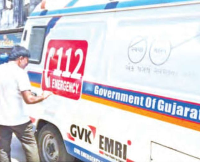 '108' stickers on ambulances are now being replaced with '112' in 7 districts of Gujarat