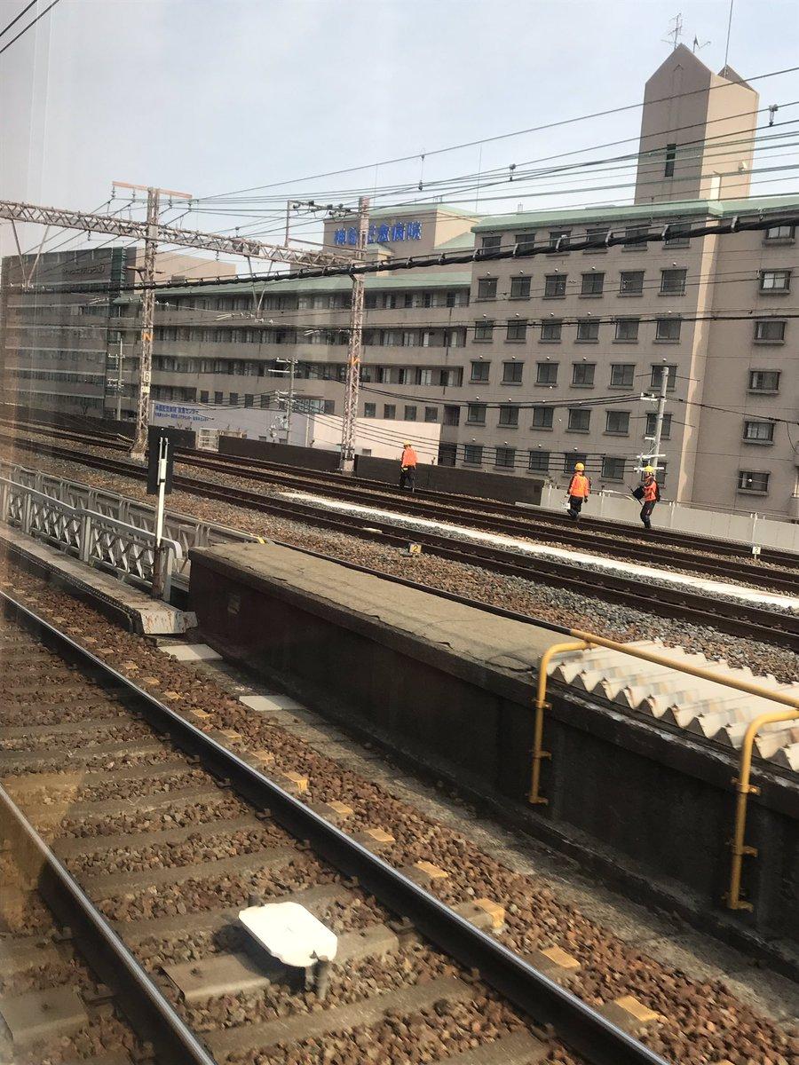 JR神戸線の灘駅~三ノ宮駅間で事故の現場画像