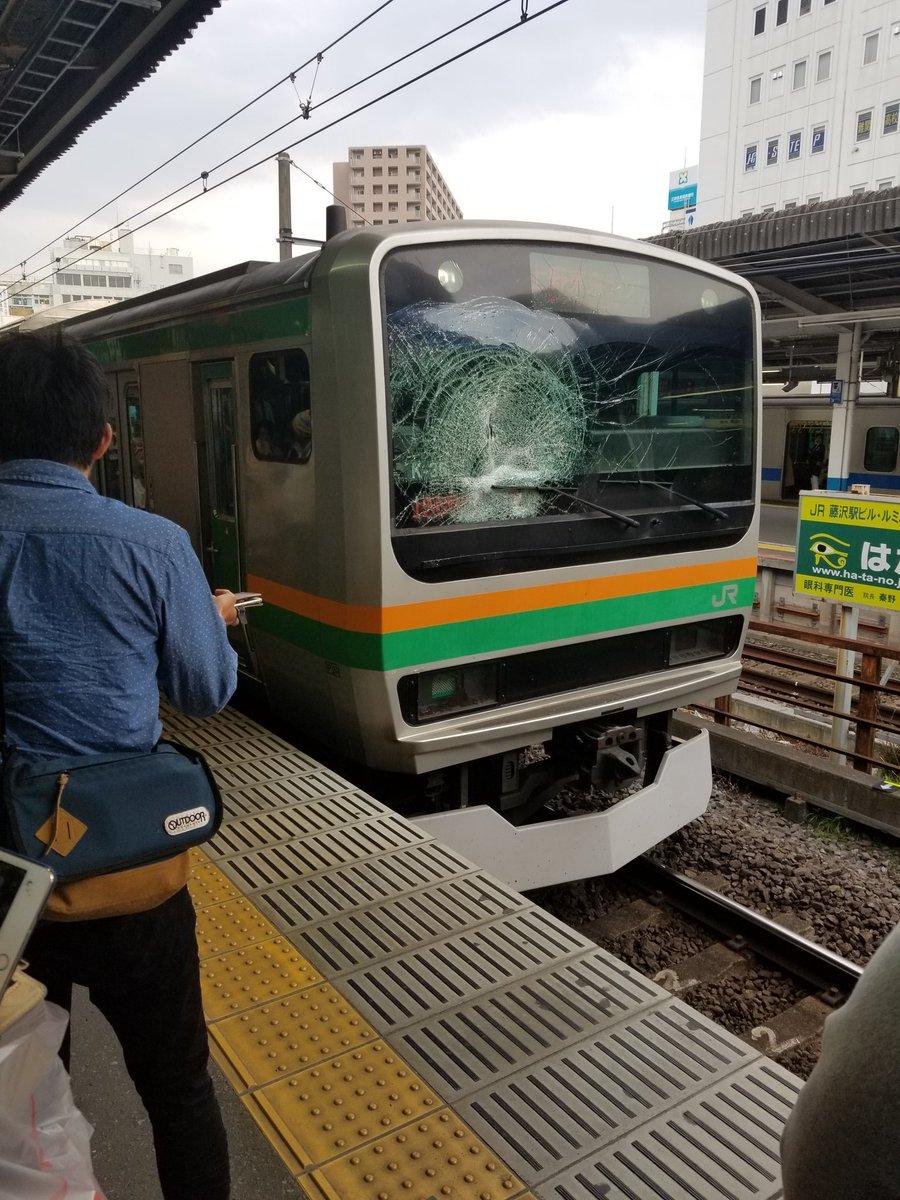 東海道線の藤沢駅で人身事故が起きた現場画像