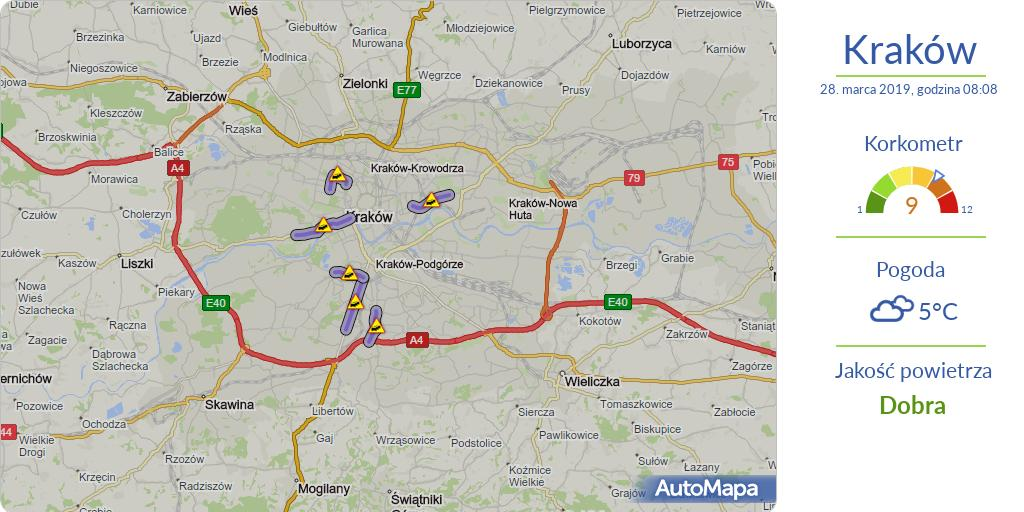 Automapa على تويتر Krakow Aktualna Mapa Korkow Korkometr