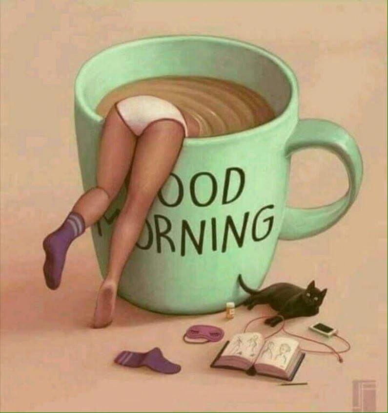 Нарисовать, утро с кофе прикольные картинки