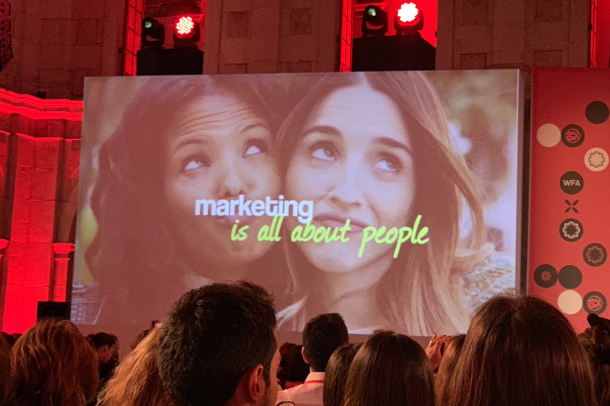 Put people first, marketing is about people. Lesson number 1 by @keithweed at #GMW19 #TeamMindshare