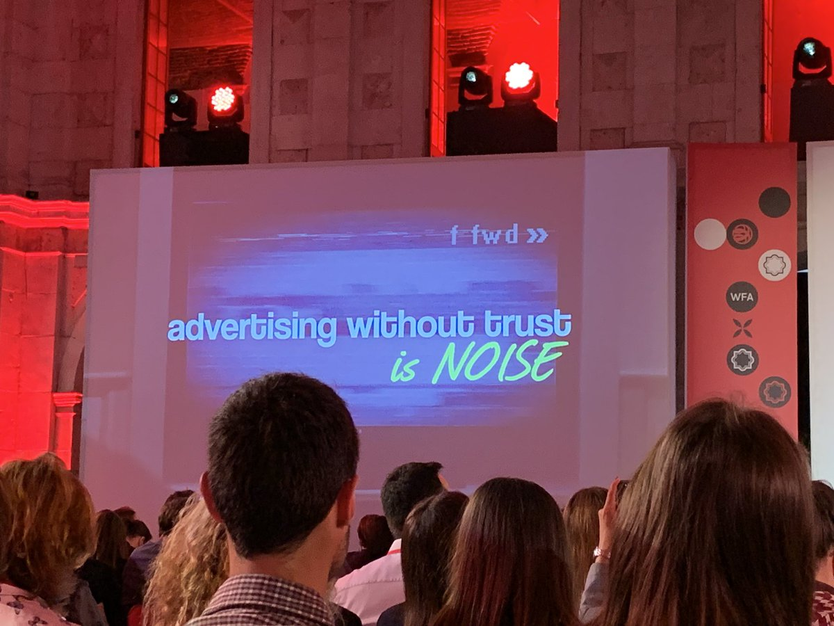 """""""Advertising without trust is noise"""" @keithweed #GMW19 #TeamMindshare"""