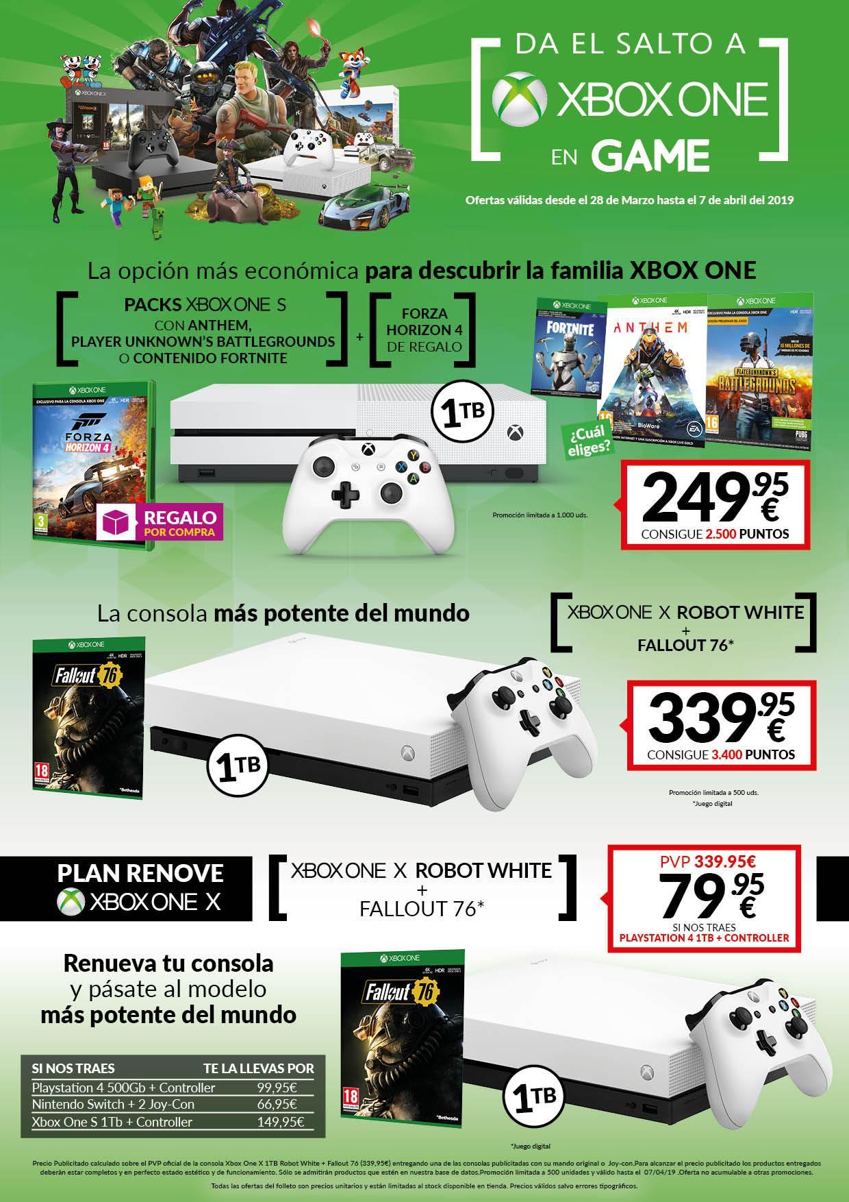 Da el salto a Xbox One con las nuevas ofertas de las tiendas GAME en accesorios y consolas Xbox One 2