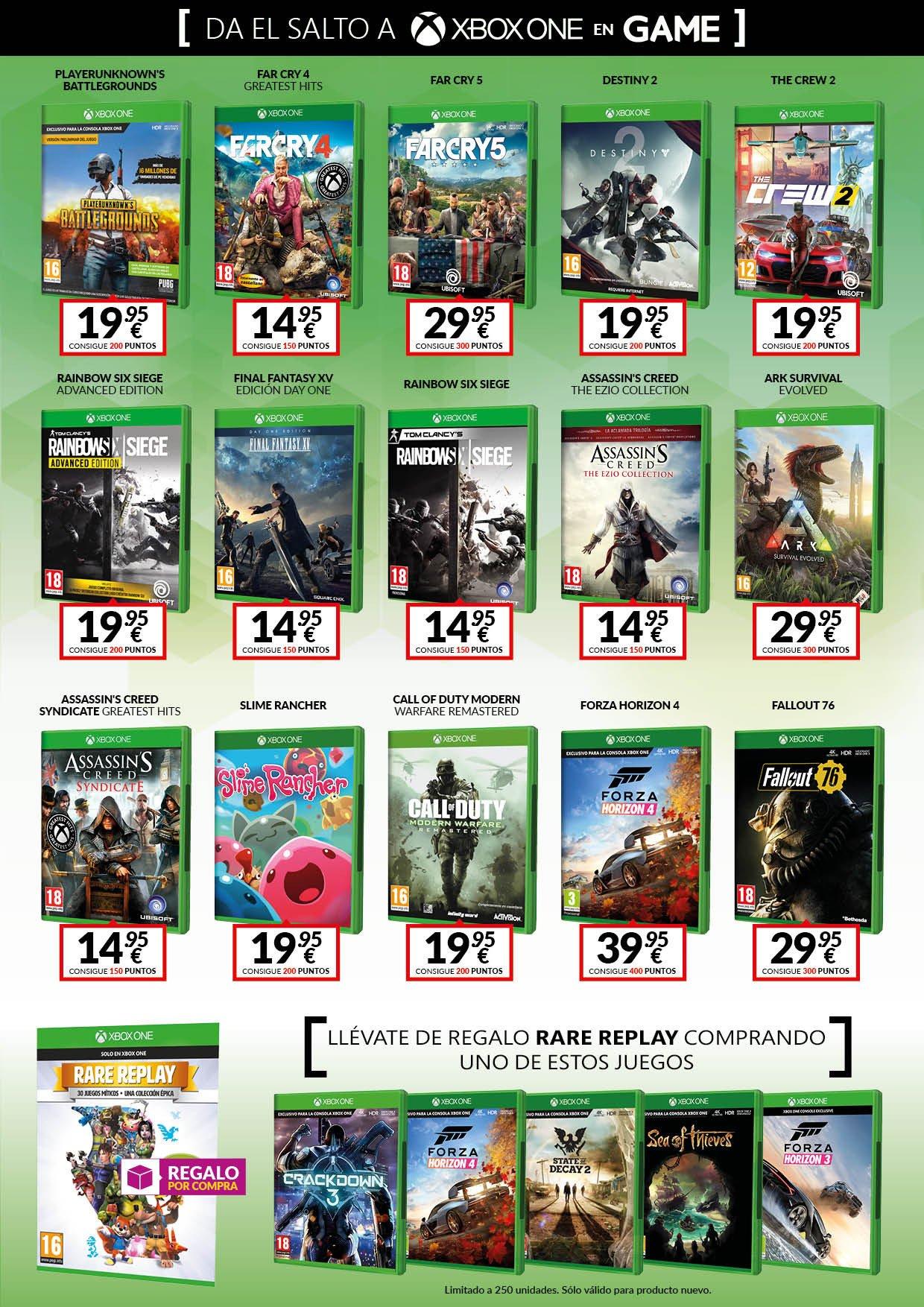 Da el salto a Xbox One con las nuevas ofertas de las tiendas GAME en accesorios y consolas Xbox One 5