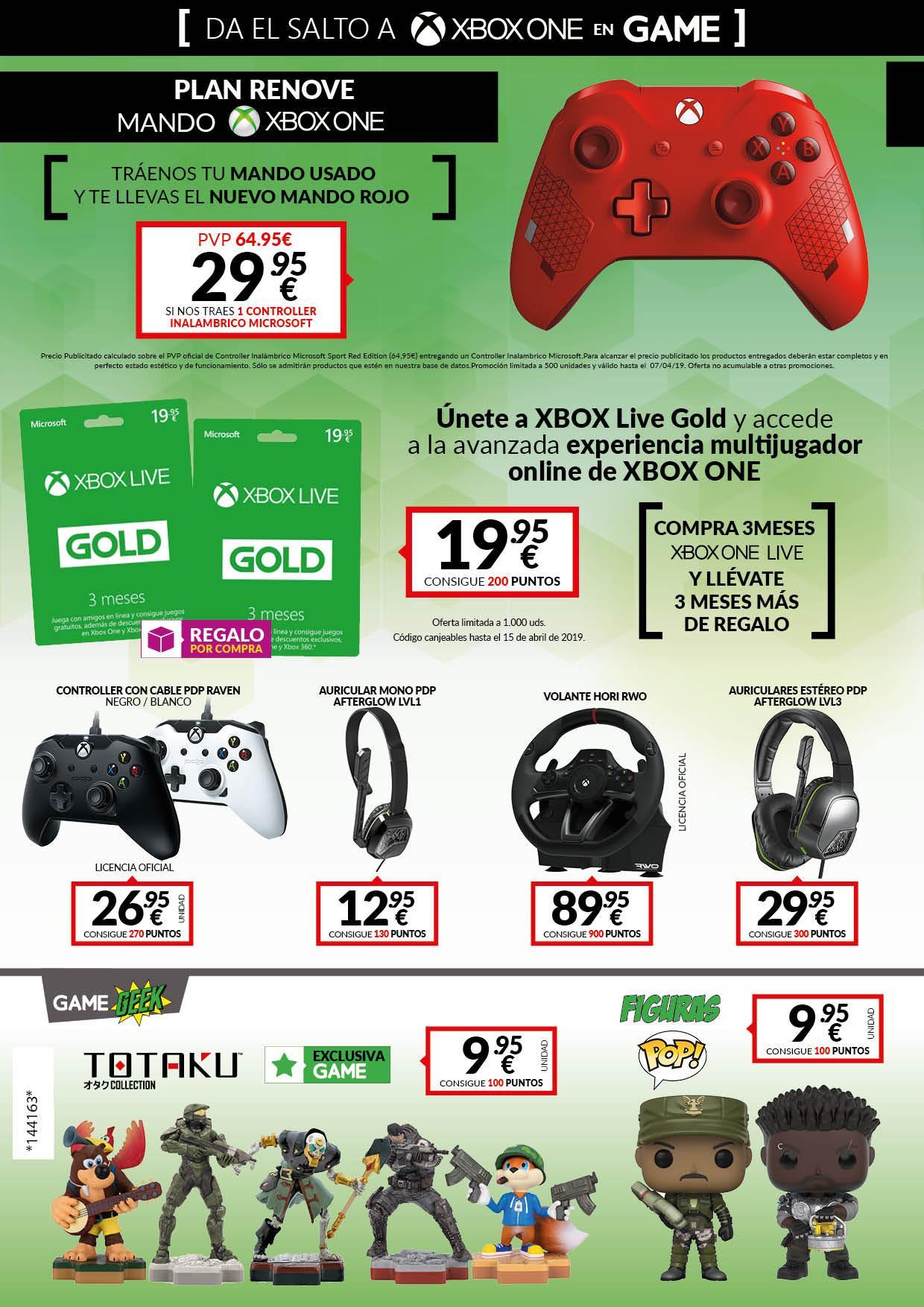 Da el salto a Xbox One con las nuevas ofertas de las tiendas GAME en accesorios y consolas Xbox One 3