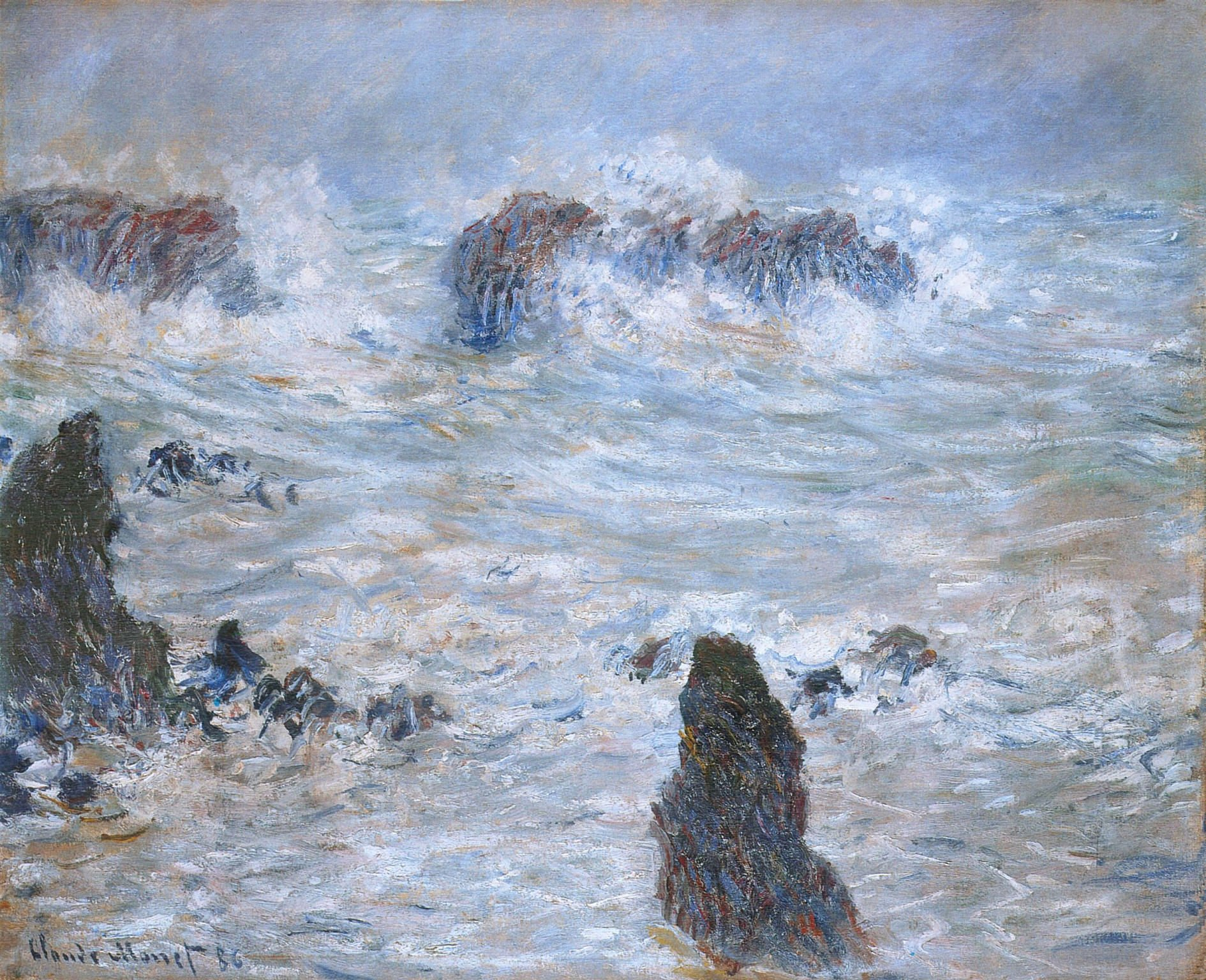 "টুইটারে Claude Monet: ""Storm, off the Coast of Belle-Ile, 1886 #monet # claudemonet… """