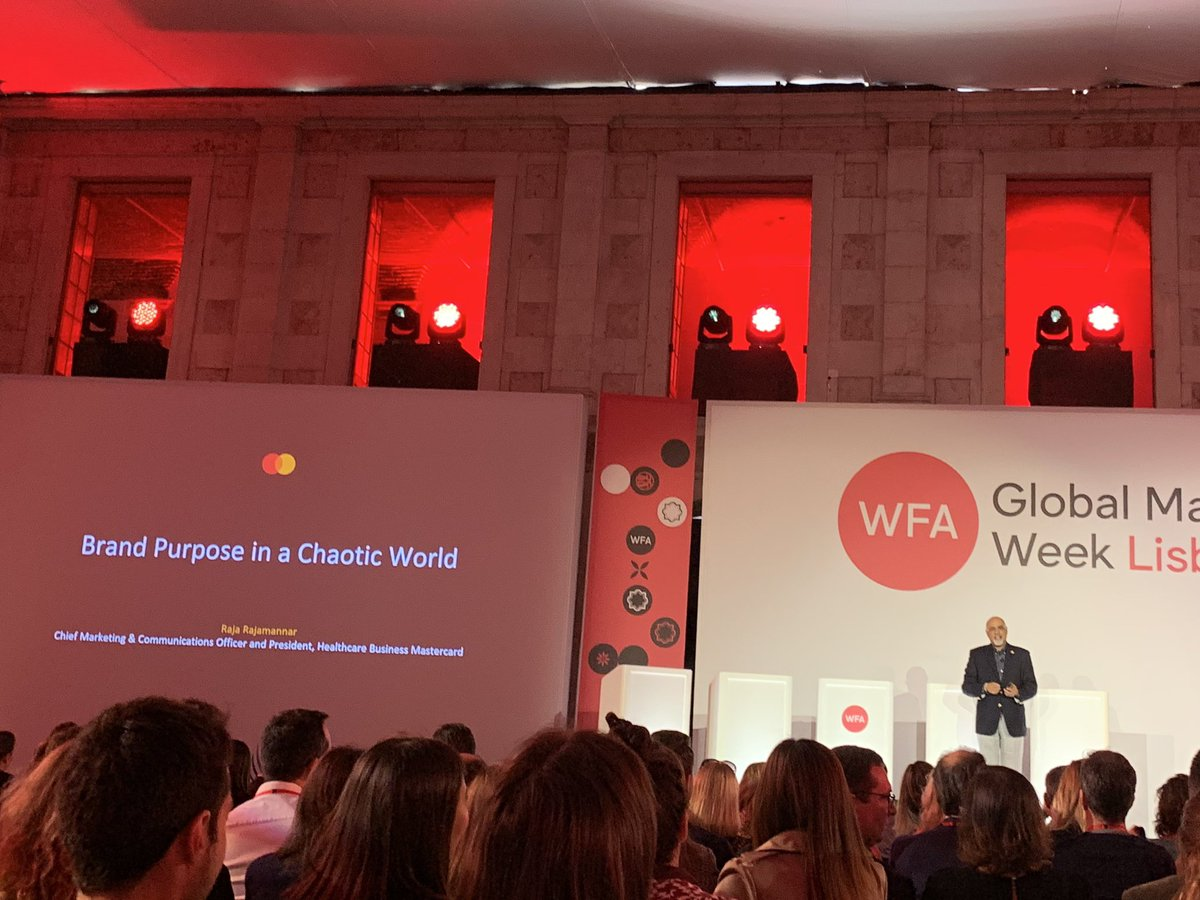 Great insight on purpose driven marketing by @RajaRajamannar #GMW19