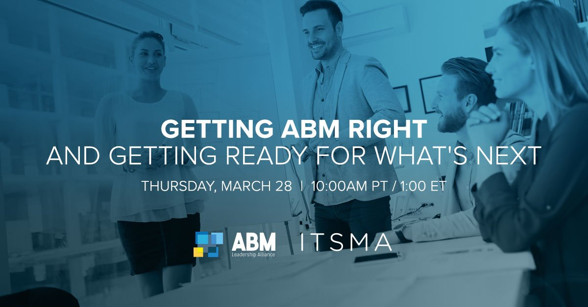 Lunch plans?  How about grabbing a sandwich and sitting down with some of the planet's best #ABM marketers for a discussion on Getting ABM Right (and Getting Ready For What's Next). 🥪  Today @ 1:00pm EST!  Register: https://www.abmleadershipalliance.com/resources/getting-abm-right-and-getting-ready-for-whats-next/?utm_campaign=abmlawebinar_032819&utm_medium=affiliate&utm_source=sigstr …  #sandwiches