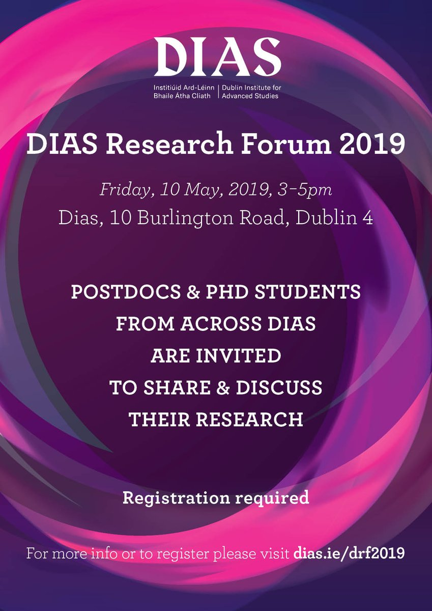 test Twitter Media - DIAS Research Forum 2019 –  Friday10 May, 3-5pm https://t.co/Pi42NcYENf