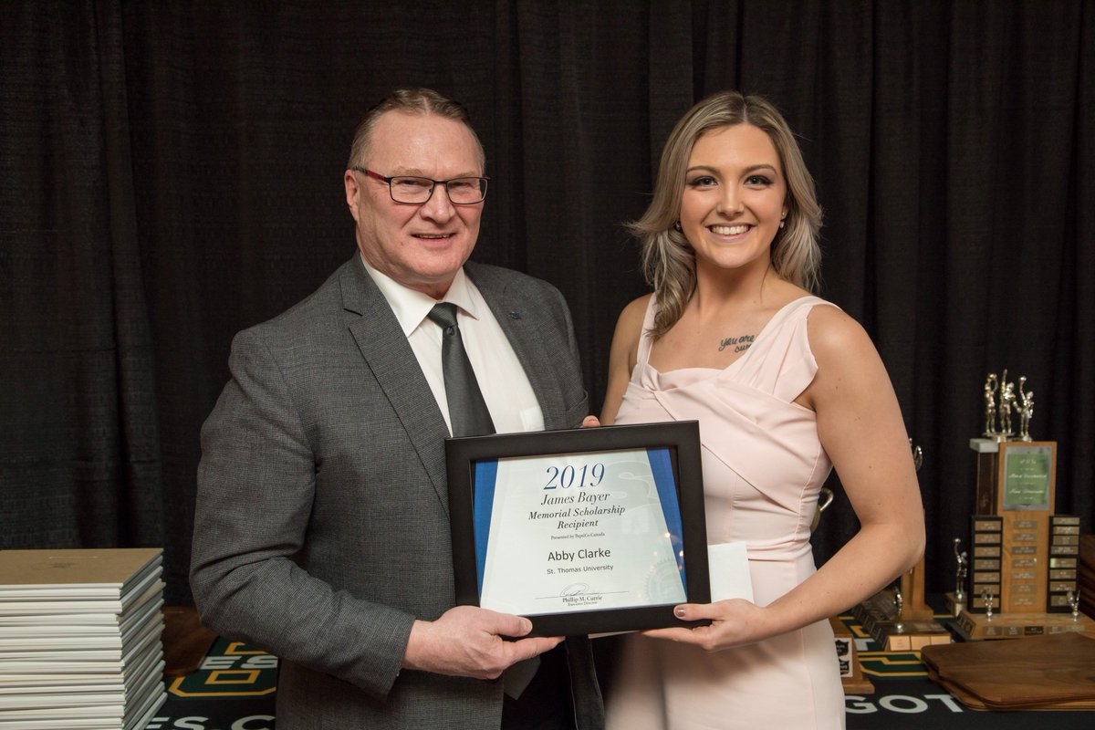 St. Thomas's Abby Clarke wins 2019 James Bayer Memorial Scholarship Award🏒👏 👇👇👇 http://atlanticuniversitysport.com/genrel/2019_James_Bayer …