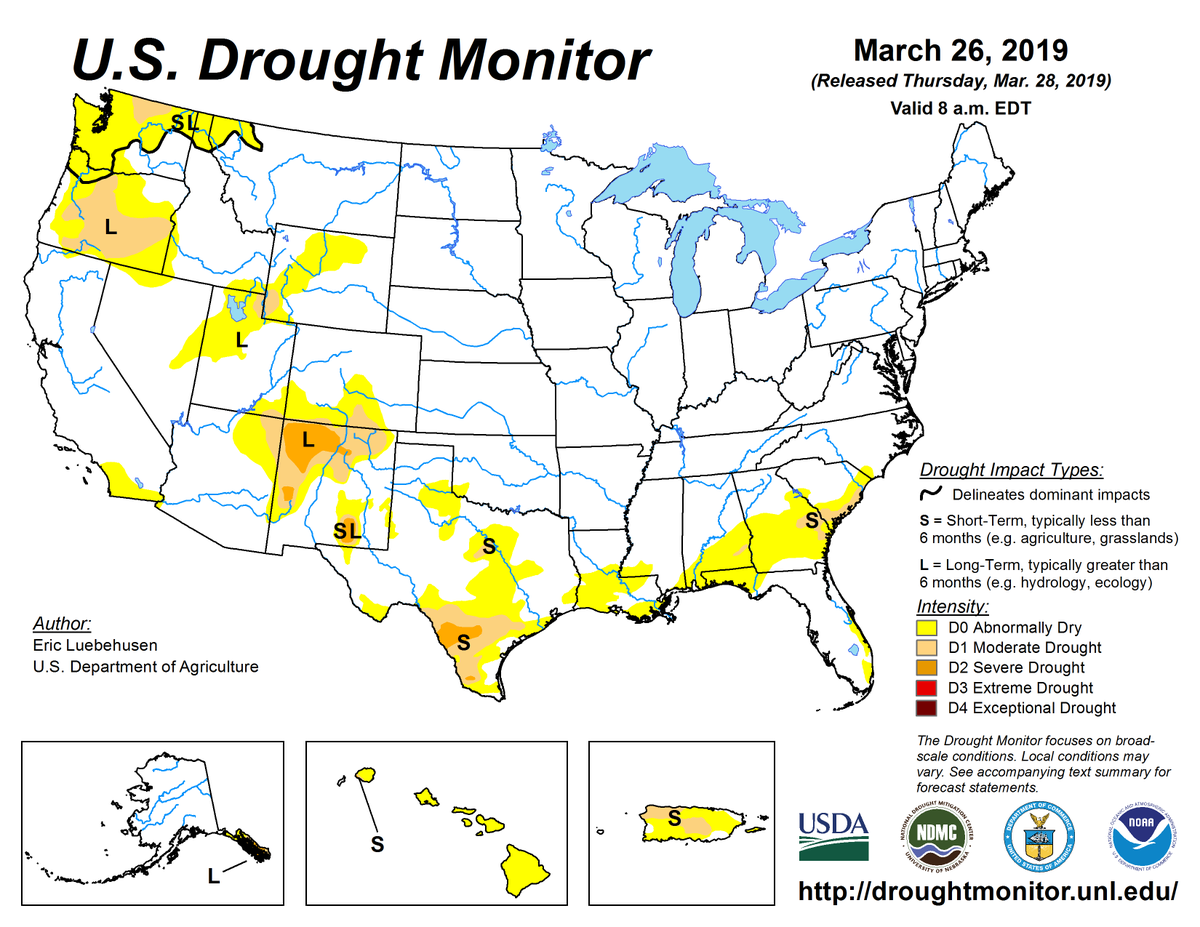 Noaa On Twitter Droughtmonitor 326 Drought2019s Continued - Great-basin-on-us-map