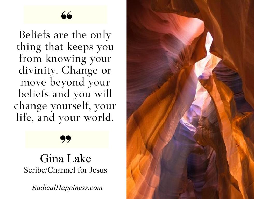 Get a free channeled ebook from Jesus by Gina Lake: http://www.RadicalHappiness.com/free #nonduality #spirituality #quoteoftheday #mindfulness #meditation #spiritualgrowth #awakening #enlightenment