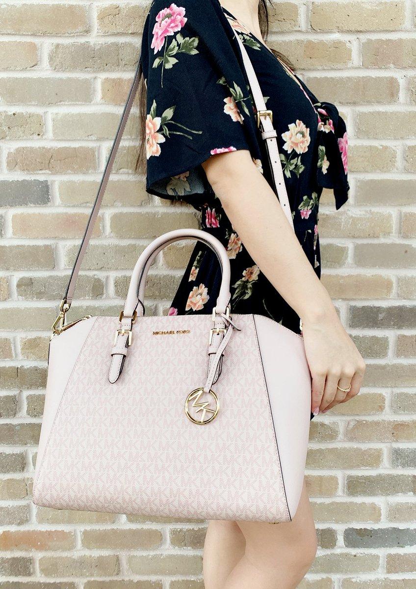 b86772c99a6e Michael Kors Ciara Saffiano Large Top Zip Satchel Ballet Pink MK Signature  #top #posher
