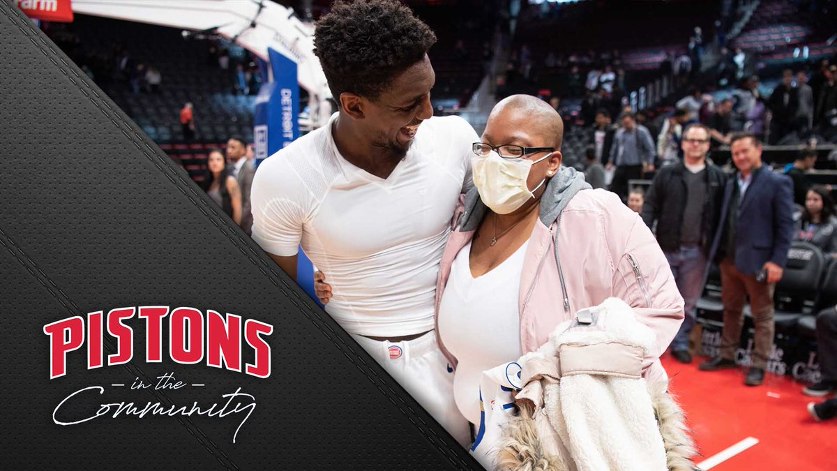 At a recent #Pistons game, @LangGalloway10 invited Destinee and her family from @WishUponATeen to take in a memorable night. Take a look at their experience here!