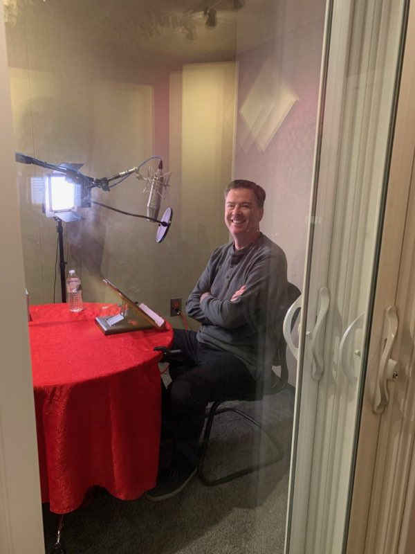 Recording new material for paperback and audiobook, out May 7. Lordy, there will be more tapes.