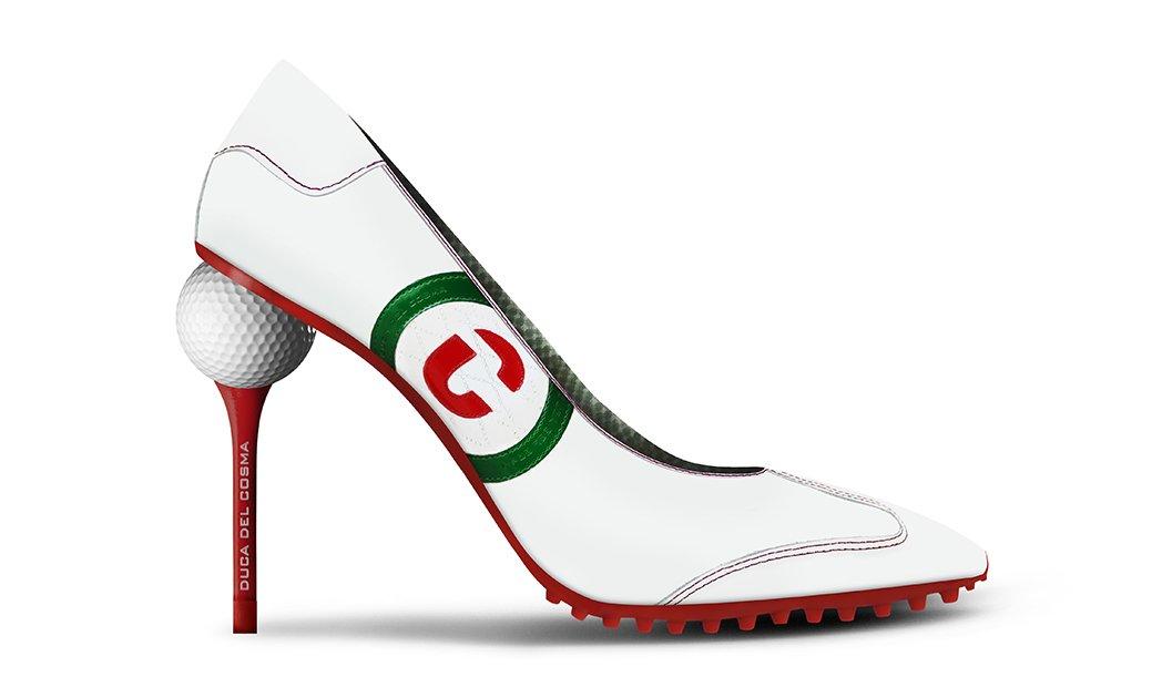 high heel golf shoes