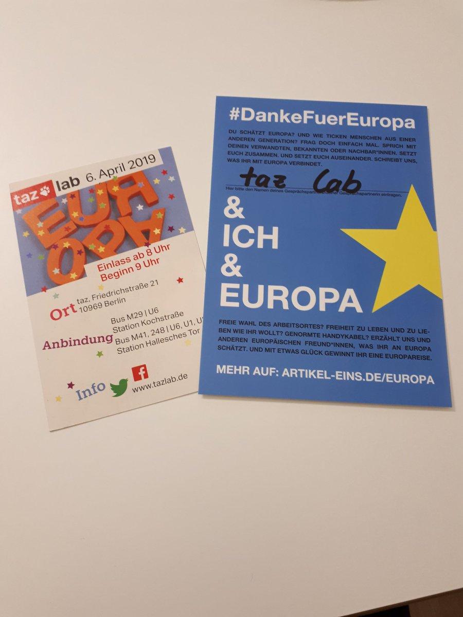Vielversprechendes Programm und tolle Referent*innen am 06.04. beim @taz_lab  Freu mich mit @artikeleins über kontroversen Austausch zu #Europa