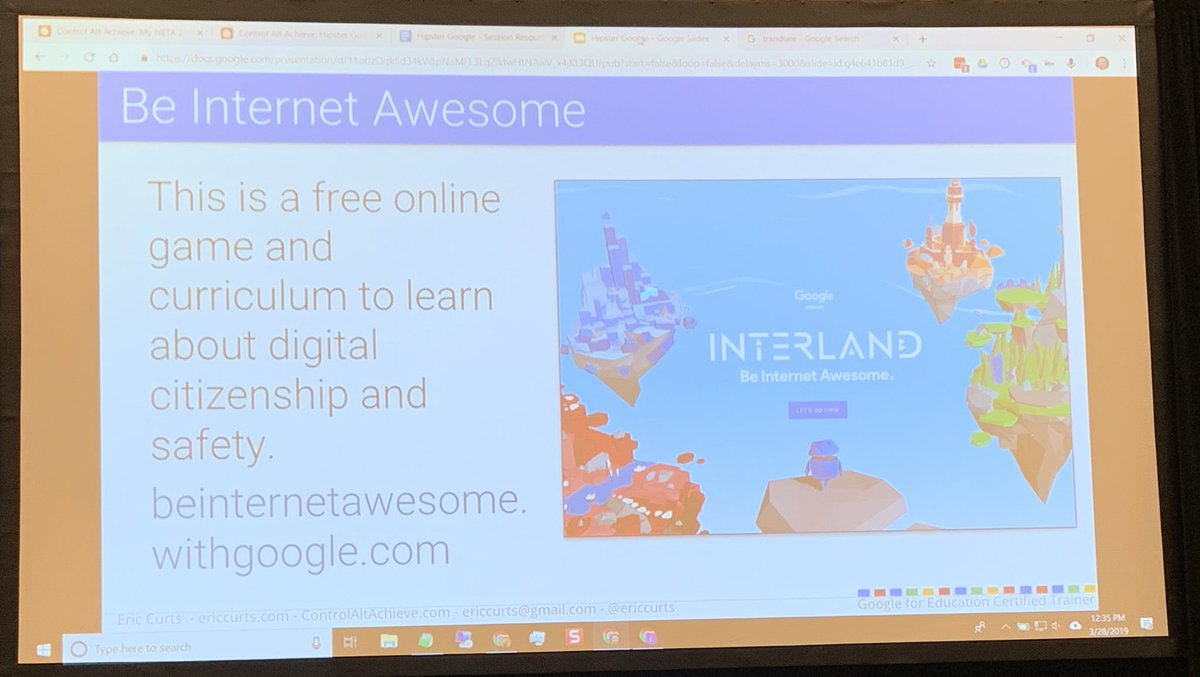 Excited to use the new hipster Google tools I'm learning at #neta19 from @ericcurts