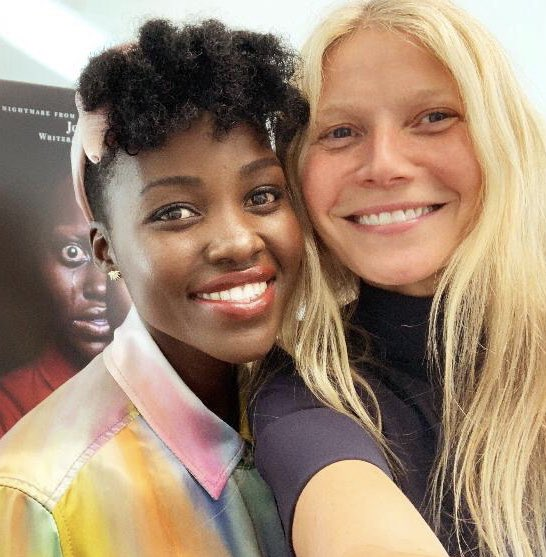 LN & GP.  Listen to Us chat on her @goop podcast 🎧  #UsMovie @GwynethPaltrow
