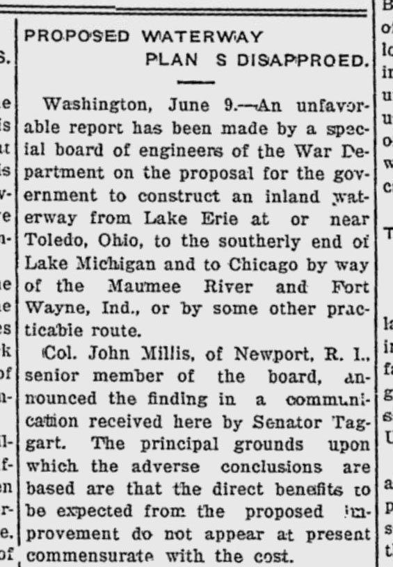 1916 June 9 inland waterway newspaper article