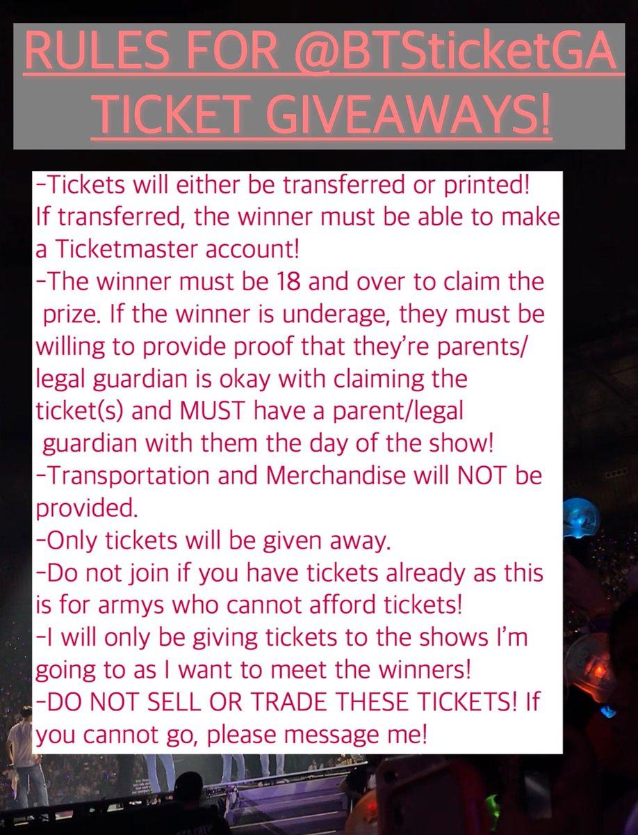 BTS Ticket Giveaway! (@BTSticketGA)   Twitter
