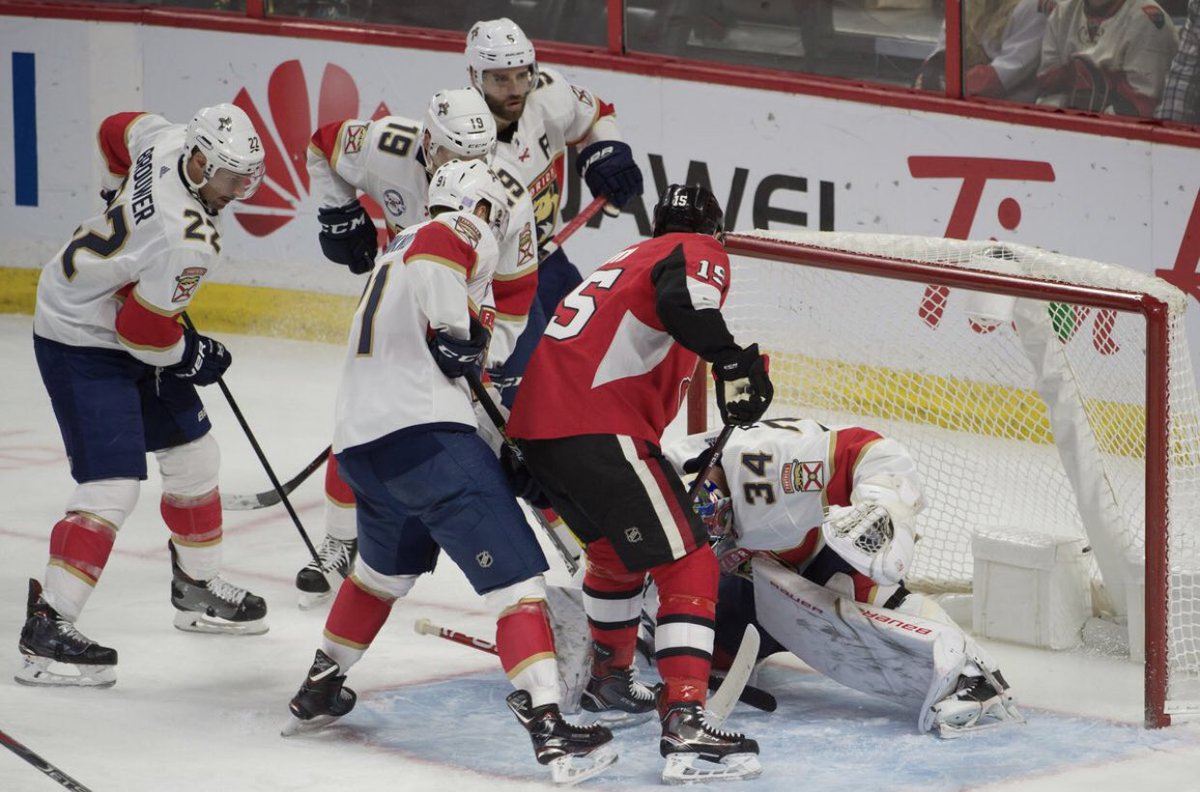 We're giving away 2 Club Bell Tickets Away to tonight's Sens/Florida game to first person to tell us the 2 Senators players who got 4 points each in a 6-4 win over Florida on April 3, 1999.