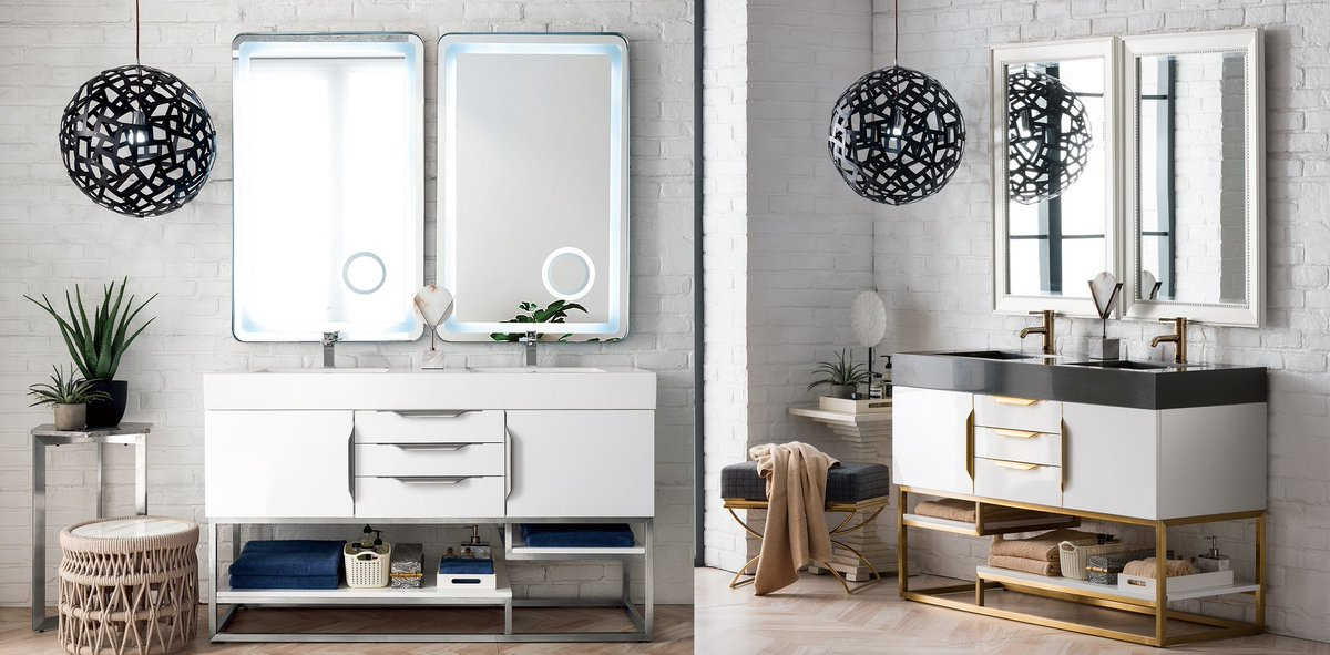 The Vanity Store On Twitter Columbia 59 James Martin Glossy White Bathroom Vanity Double Sink Modernvanity Gold