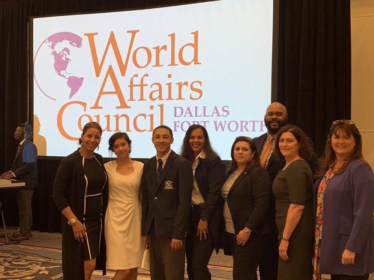 FWISD @Dunbar_HS @ymlafw participated in World Affairs Council luncheon #FWISD_CTE