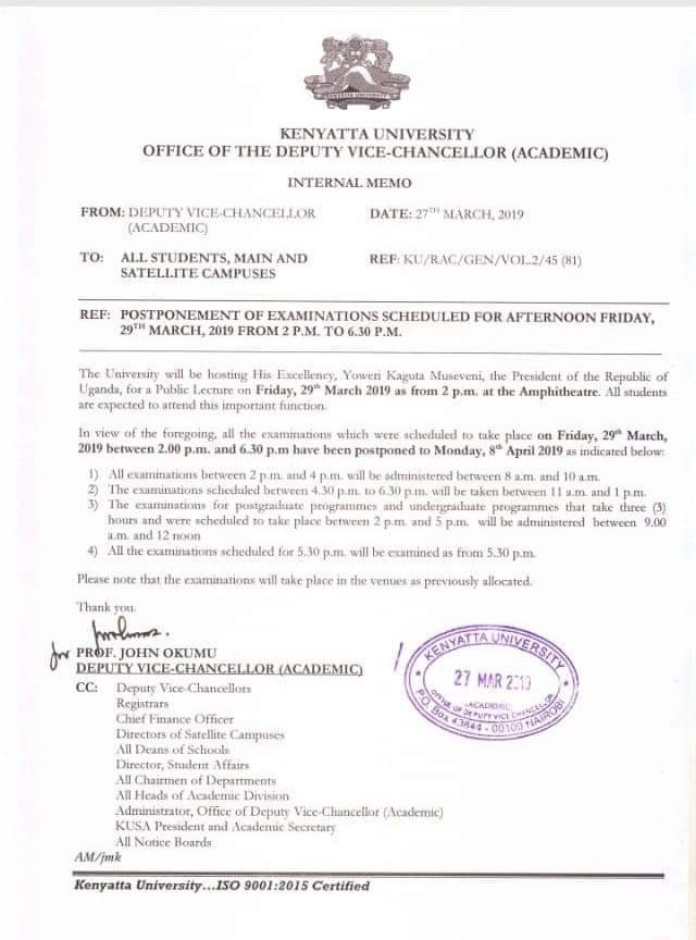 D2xRuHSWwAEtalr - How Dictator President Museveni forces Kenyatta University to Postpone Exams