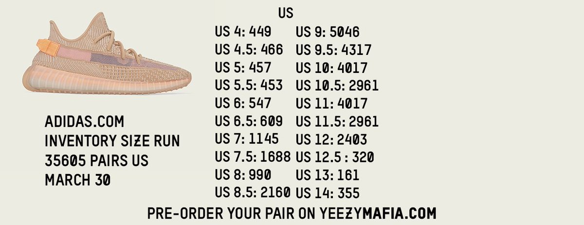 yeezy clay stock numbers Shop Clothing