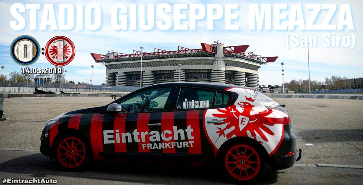 Stadio San Siro/Giuseppe Meazza  Neuer Rekord: Erstes deutsches Team in einer KO-Runde ohne Gegentor (EL/CL!).  ....... #SGE #InterSGE #SGEuropa #EINTRACHTliebe #MailandTagUndNacht2019 #Meazza #SanSiro #StadioSanSiro #StadioGiuseppeMeazza #Milan #Mailand #EintrachtAuto #dopa