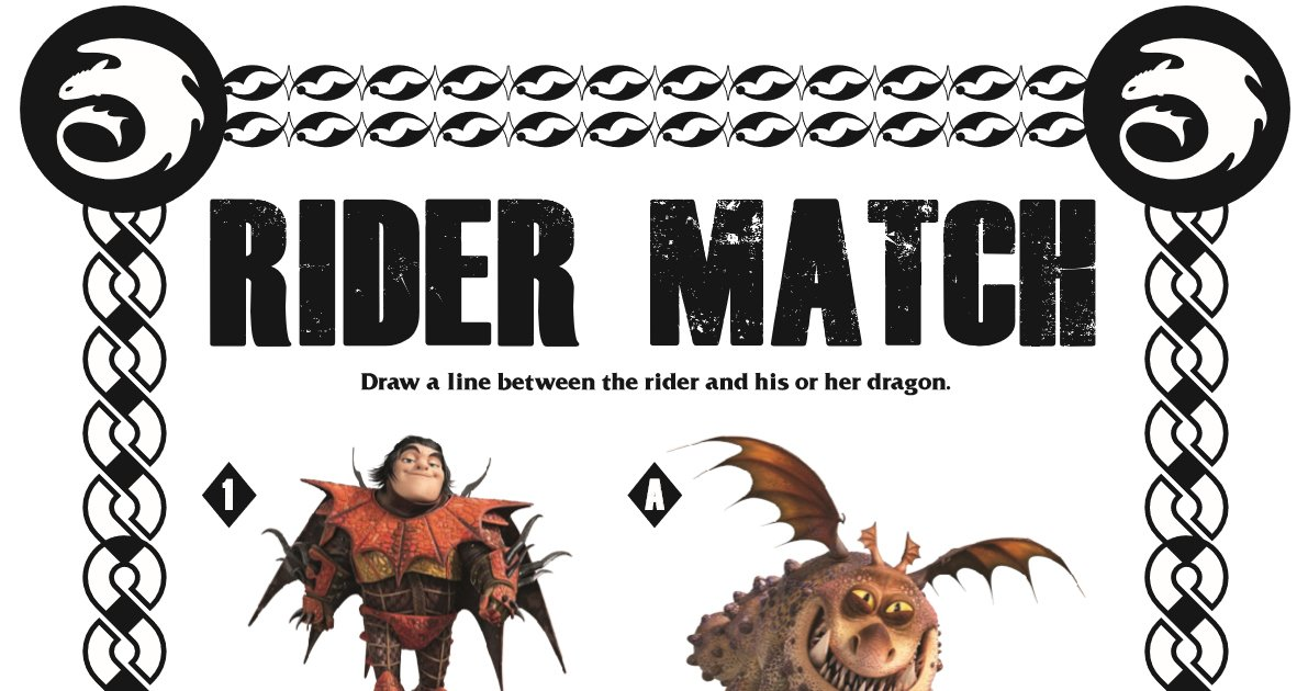 Dragon Matching Activity Page from HTTYD3 mamalikesthis.com/dragon-matchin…