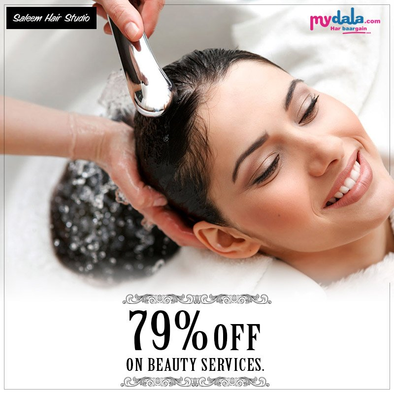 79% OFF On Beauty services. Book Your Appointment with Saleem Hair Studio. Appointment Link: https://t.co/A6N0hrPgCP #booknow #beautyservices #offer #deals #makeup https://t.co/hcMajjQpbT