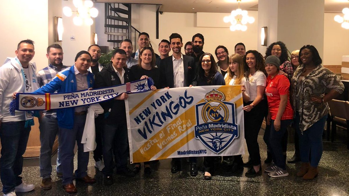 Yesterday was a very special day for our Peña! We had the honor & privilege to meet @aarbeloa17, un madridista de corazón! Gracias Espartano! Thanks for your inspiring madridismo on the field & now off the field! Gracias a @realmadrid por esta alegría! #HalaMadrid