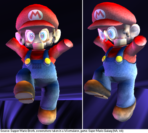 In Super Mario Galaxy, whenever Mario touches dark matter