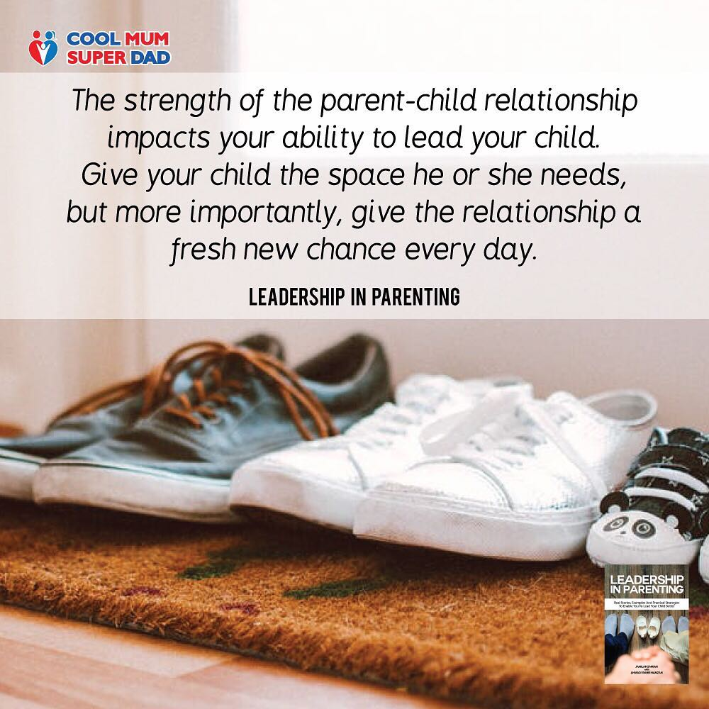 The strength of the parent-child relationship impacts your ability to lead your child.  -Leadership in Parenting  #CoolMumSuperDad  #LeadershipInParenting  http://www.coolmumsuperdad.com