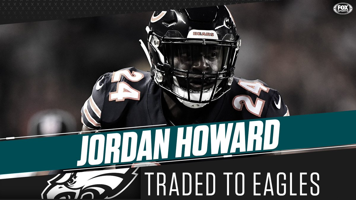 ca19cbc2a63f the bears have traded former pro bowl rb jordan howard to the eagles in  exchange for