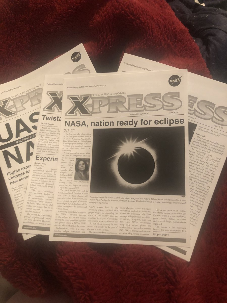 I will never reveal how I got these #Xpress newsletters from @NASAArmstrong, but I love them. #NASASocial